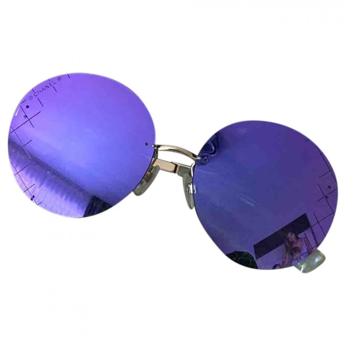 Chanel \N Purple Metal Sunglasses for Women \N