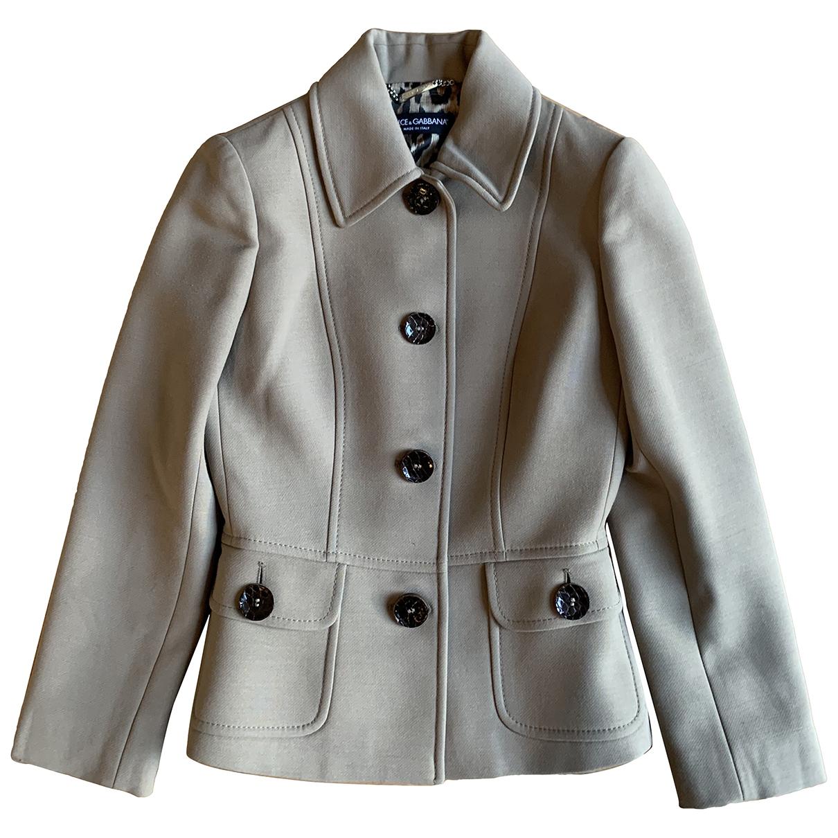 Dolce & Gabbana - Veste   pour femme en laine - beige