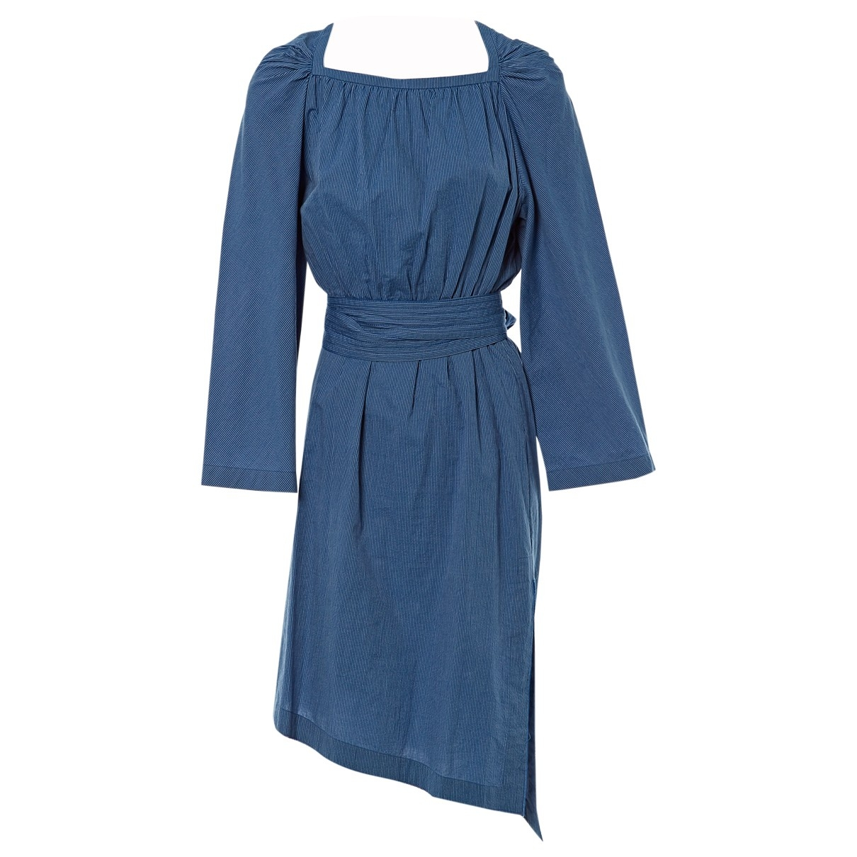 Loewe \N Blue Cotton dress for Women 38 FR