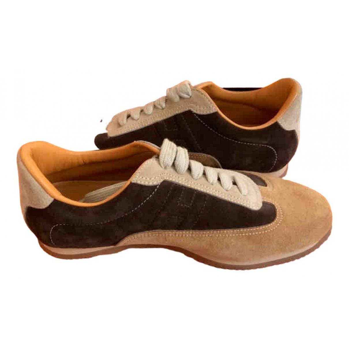 Hermès N Brown Leather Trainers for Women 36 EU