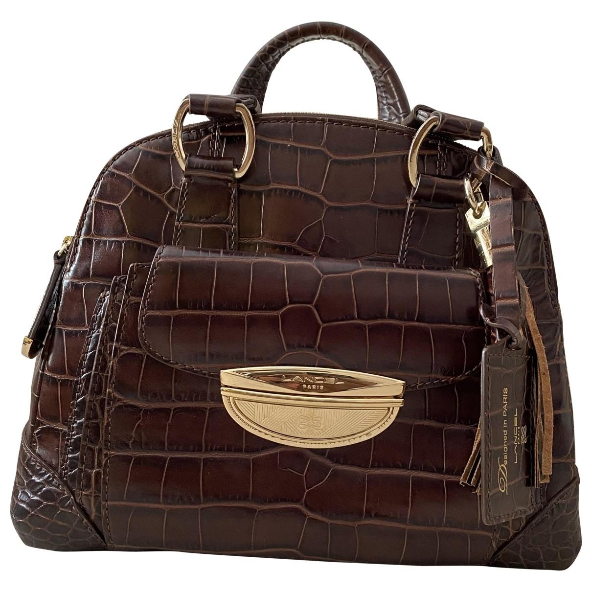 Lancel Adjani Handtasche in  Braun Exotenleder