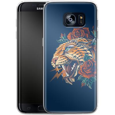 Samsung Galaxy S7 Edge Silikon Handyhuelle - Ornate Leopard von BIOWORKZ