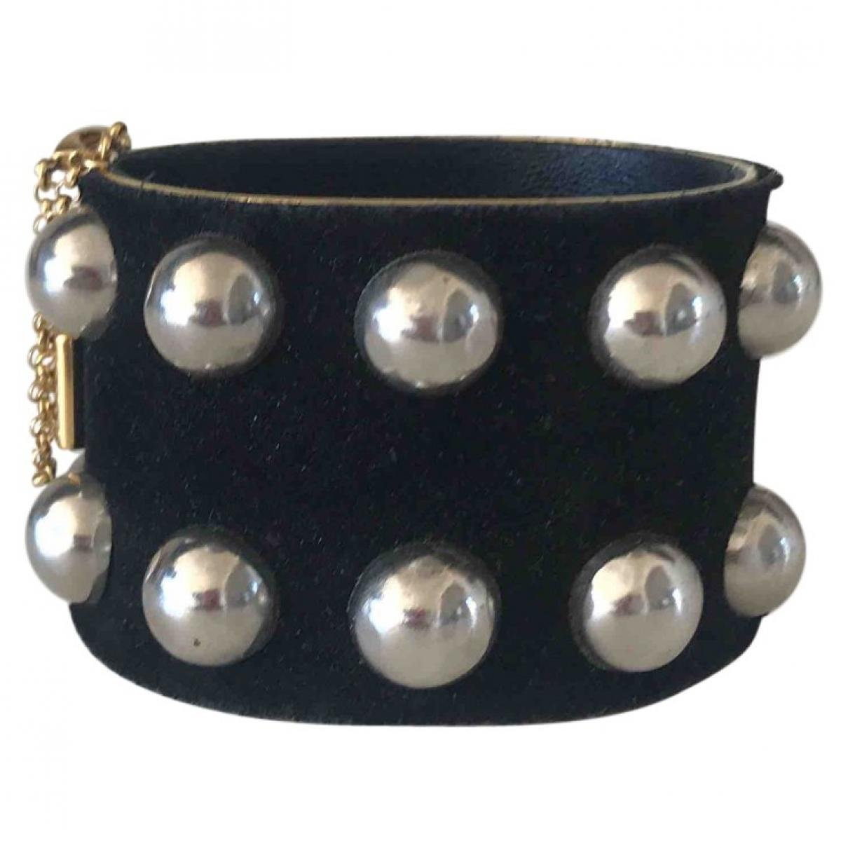 Celine \N Armband in  Schwarz Leder