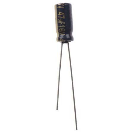 Panasonic 47μF Electrolytic Capacitor 16V dc, Through Hole - EEUFC1C470 (5)