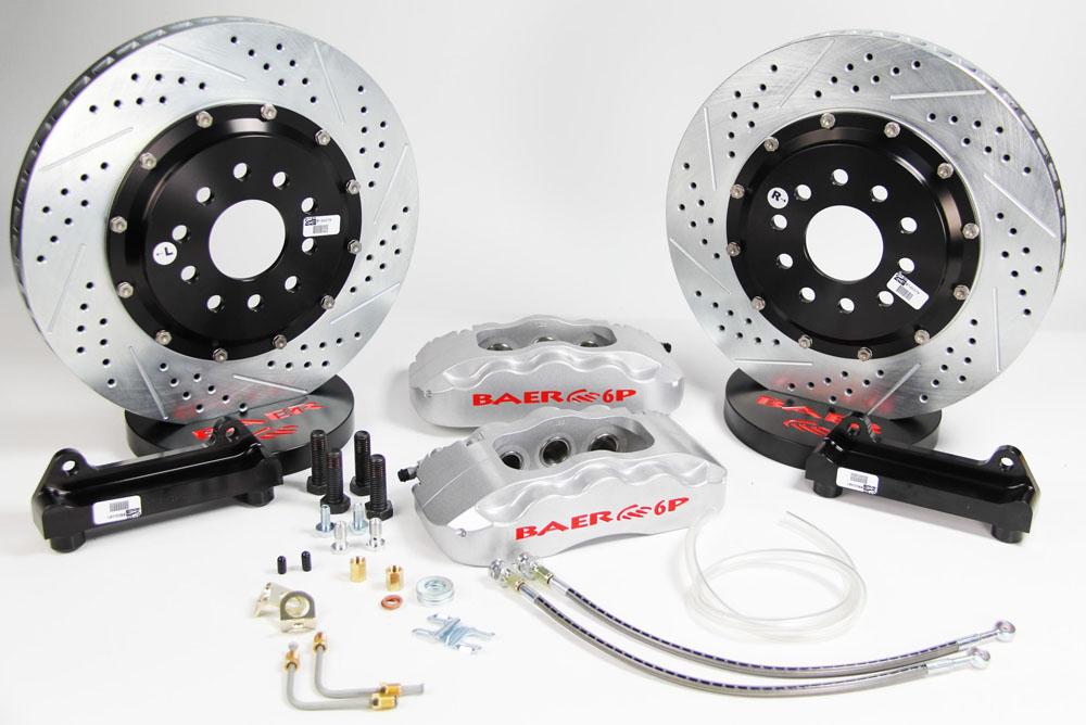 Baer Brakes Brake System 14 Inch Front Pro+ Silver 85-87 GM Y Body