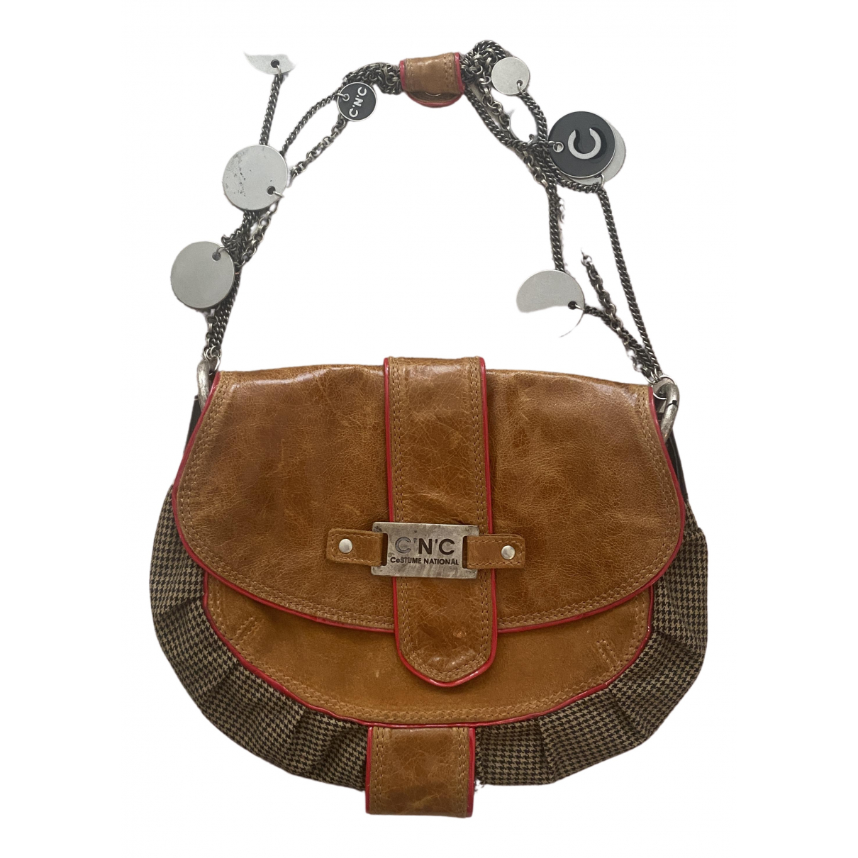 Cnc \N Beige Leather handbag for Women \N