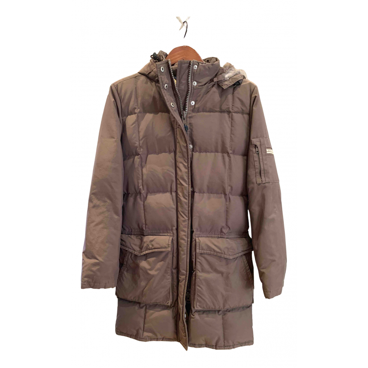 Woolrich N Brown Cotton coat for Women 42 IT