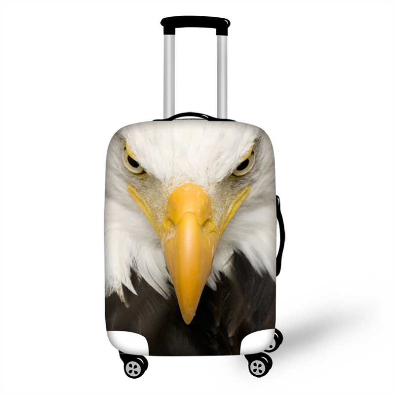 3D Printing Eagle Spandex Travel Dust proof Luggage Cover