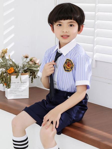 Milanoo Ring Bearer Suits Cotton Short Sleeves Tie Shirt Badge Shorts Wedding Boy Suits