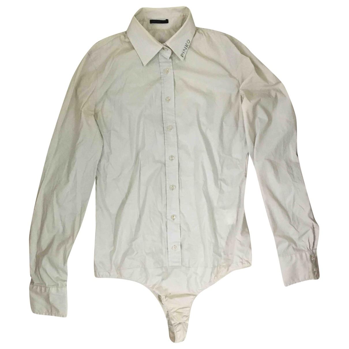 Pinko - Top   pour femme en coton - beige