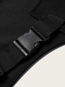 Release Buckle Decor Fanny Pack