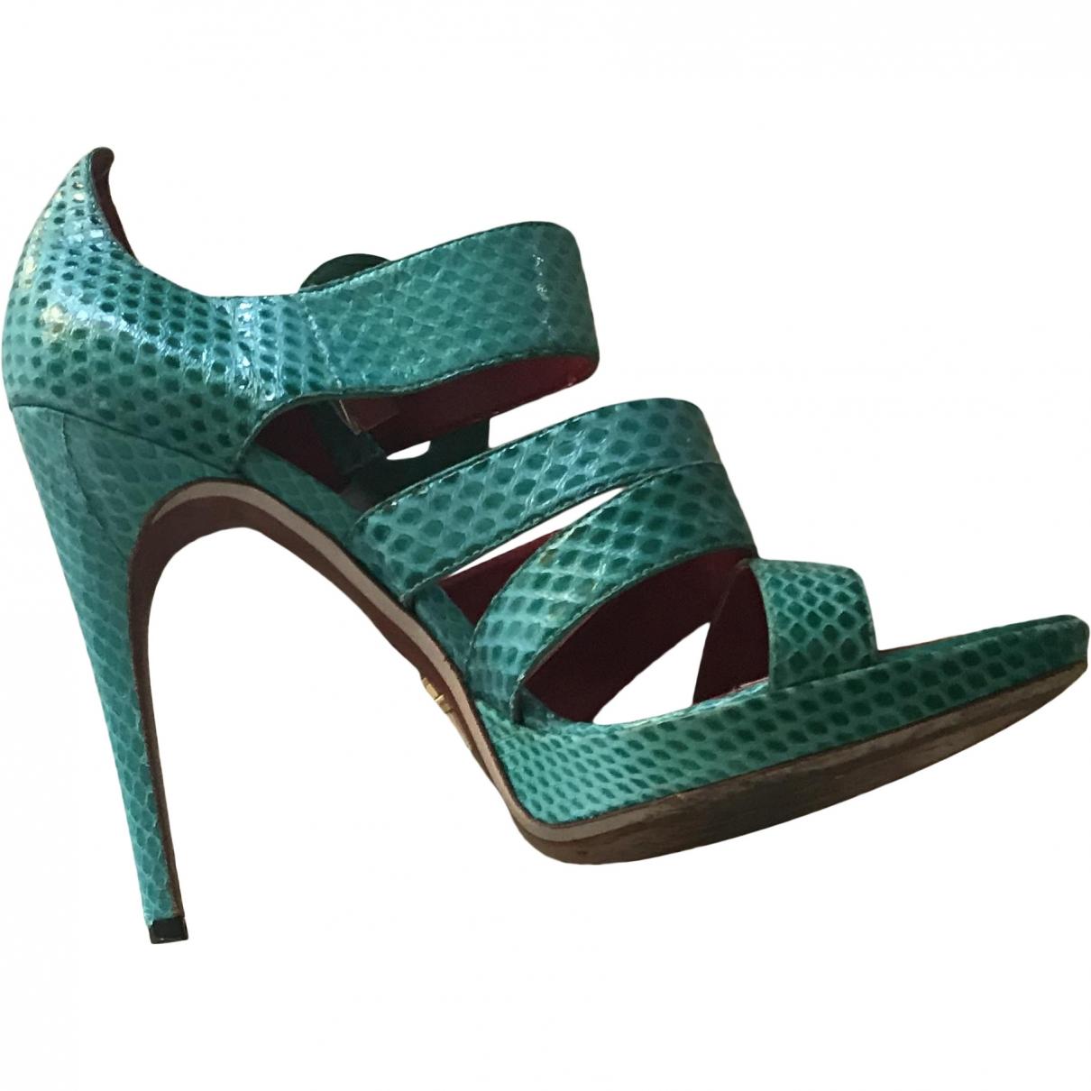 Cesare Paciotti \N Green Python Sandals for Women 40 EU