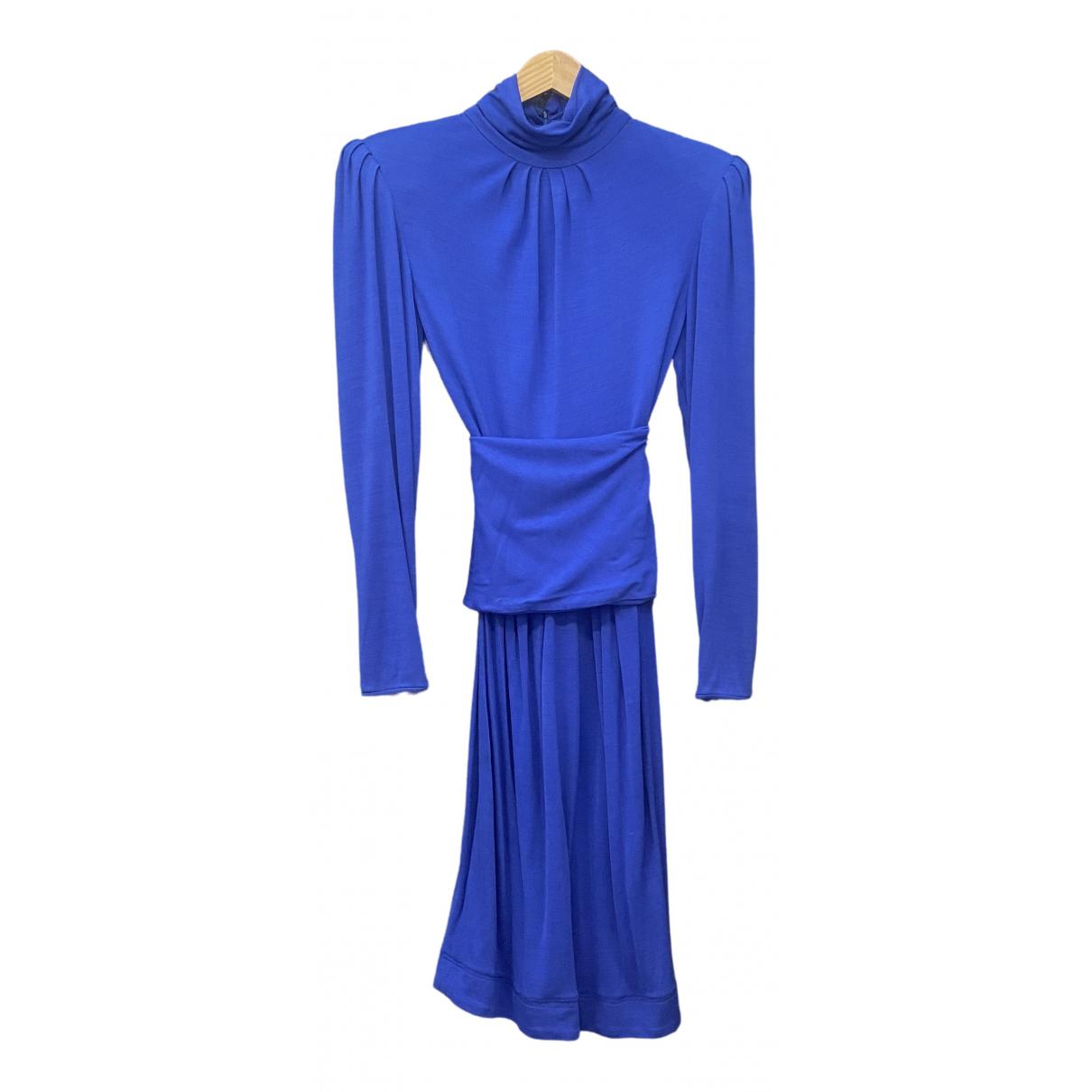 Emanuel Ungaro \N Kleid in  Blau Baumwolle - Elasthan