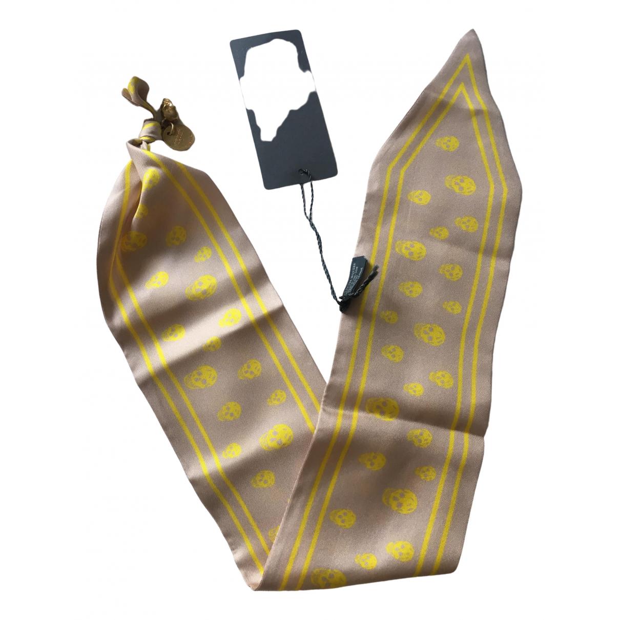 Alexander Mcqueen - Foulard   pour femme en soie - rose