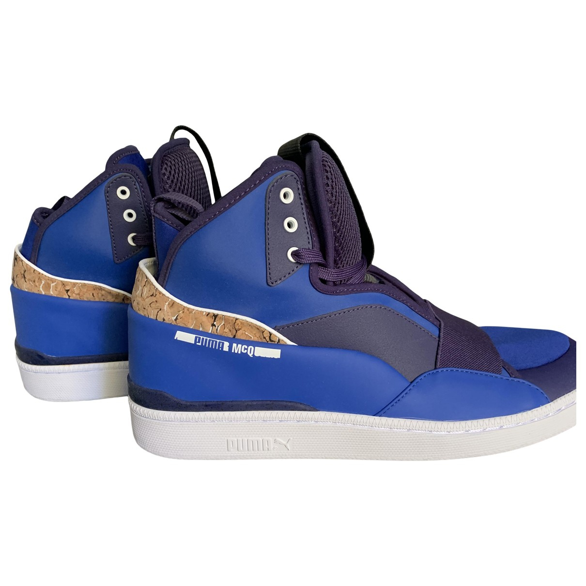 Alexander Mcqueen For Puma - Baskets   pour homme en cuir - bleu
