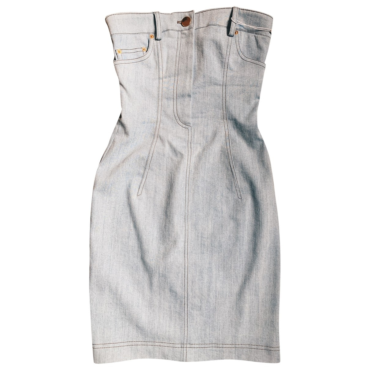 Moschino \N Blue Denim - Jeans dress for Women 38 IT