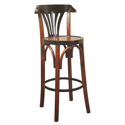 MF044A Barstool De Luxe 'Grand Hotel'  Honey with MDF & Pine Material  in Black & Honey Distressed French