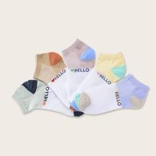 5 pares calcetines de niñitos con estampado de letra