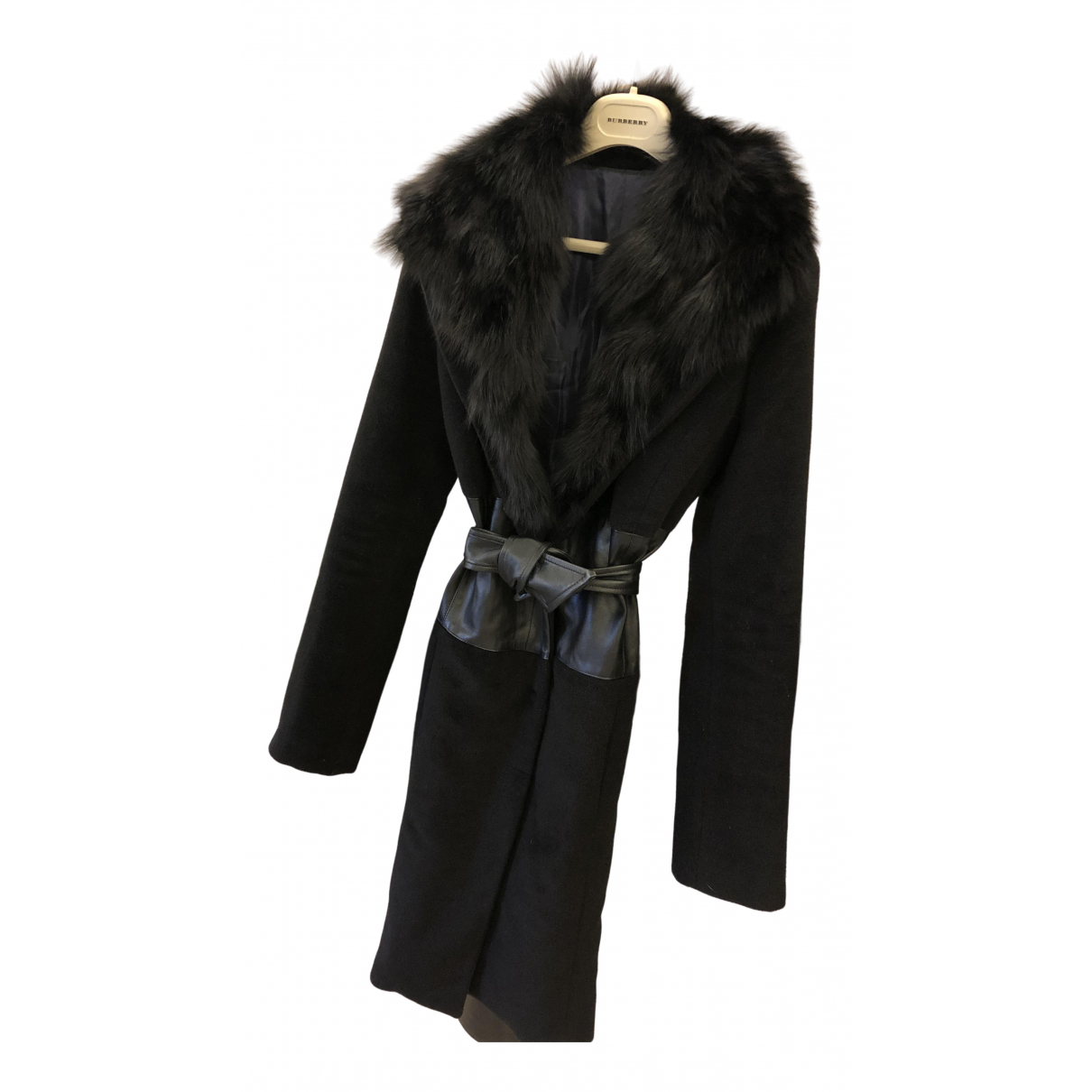 Non Signé / Unsigned N Black coat for Women 44 IT