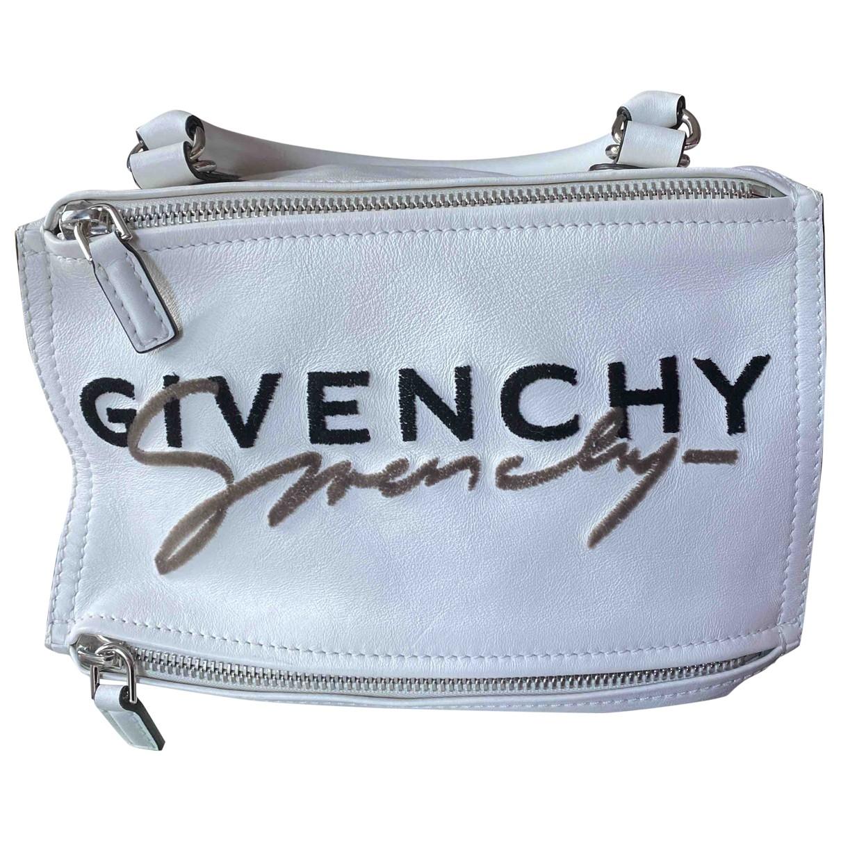 Givenchy Pandora Handtasche in  Weiss Leder