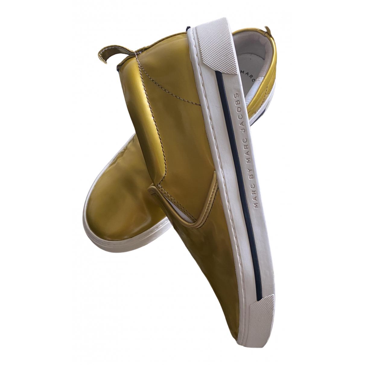 Marc By Marc Jacobs \N Ballerinas in  Gold Lackleder