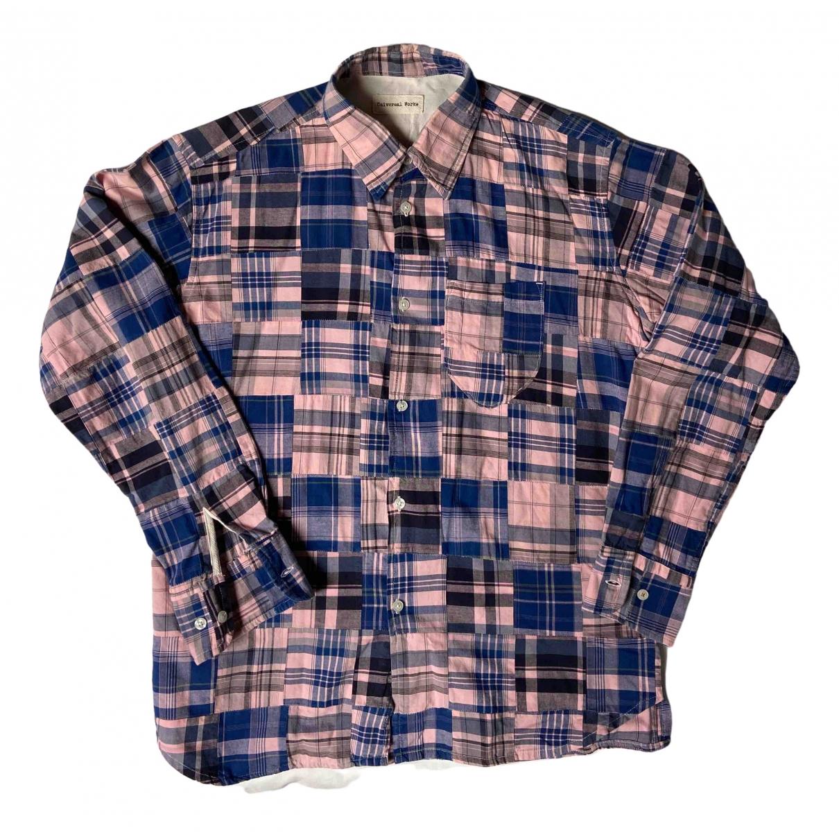 Universal Works \N Pink Cotton Shirts for Men M International