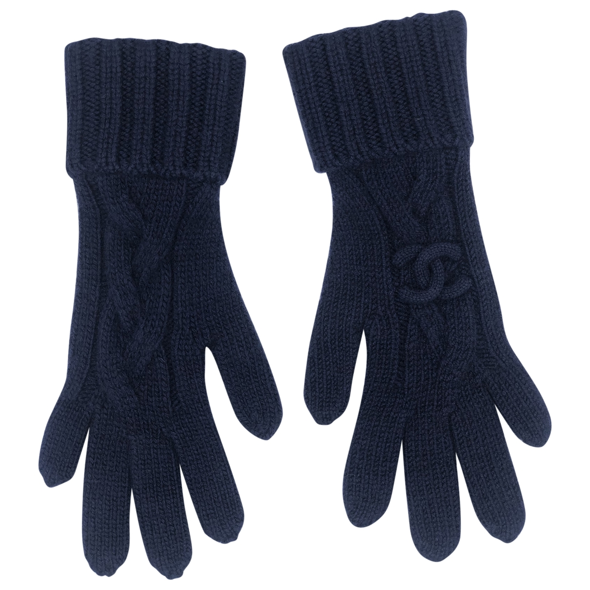Chanel \N Navy Cashmere Gloves for Women M International