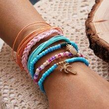 6pcs Braided Beaded Bracelet