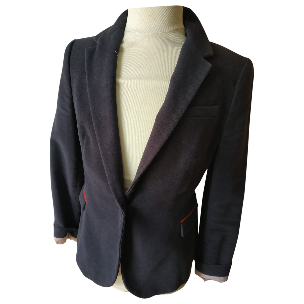 Zara \N Blue Velvet jacket for Women 42 FR