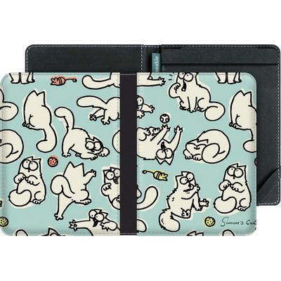 tolino vision eBook Reader Huelle - Simon´s Cat Green Pattern von Simons Cat