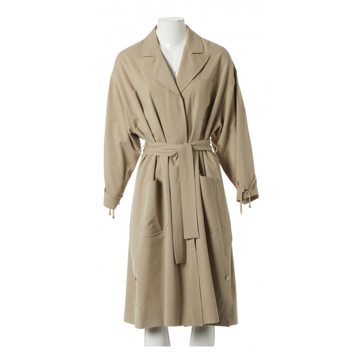 Chanel \N Trench in  Beige Wolle