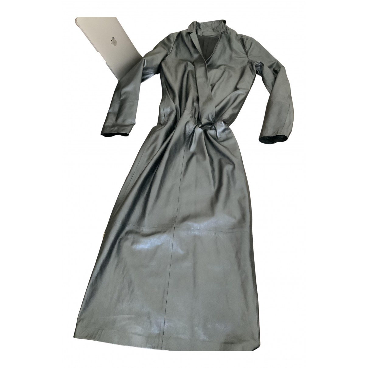 Bruno Magli \N Kleid in  Schwarz Leder