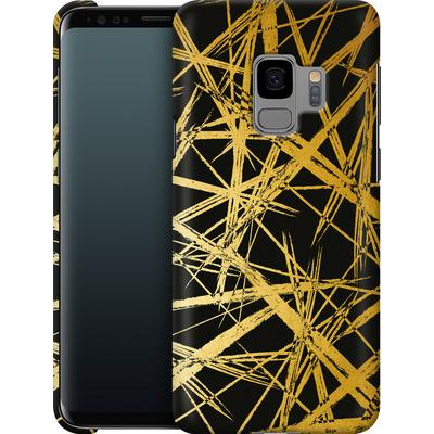 Samsung Galaxy S9 Smartphone Huelle - Strokes Gold Black von Khristian Howell