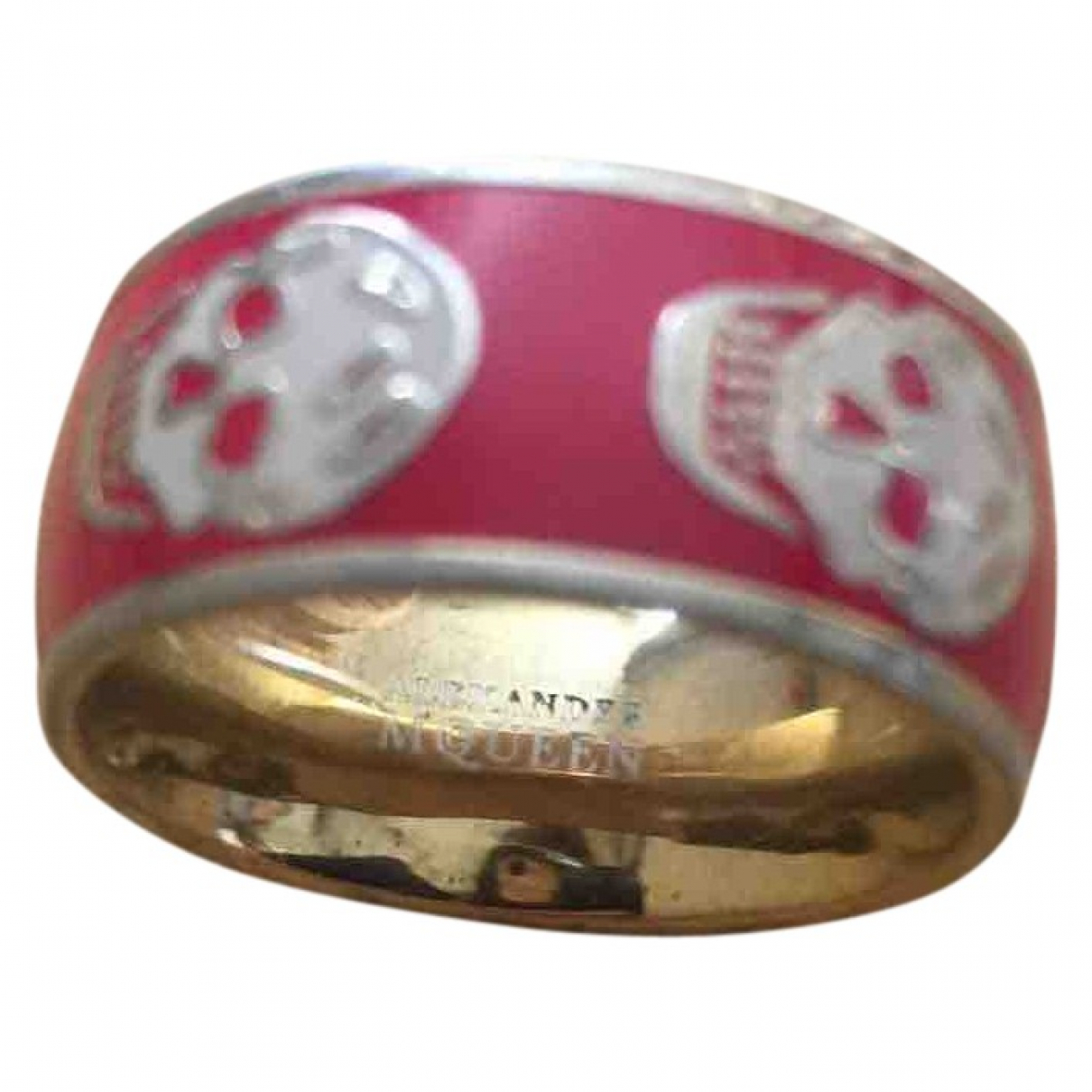 Alexander Mcqueen \N Red Metal ring for Women M ½ UK