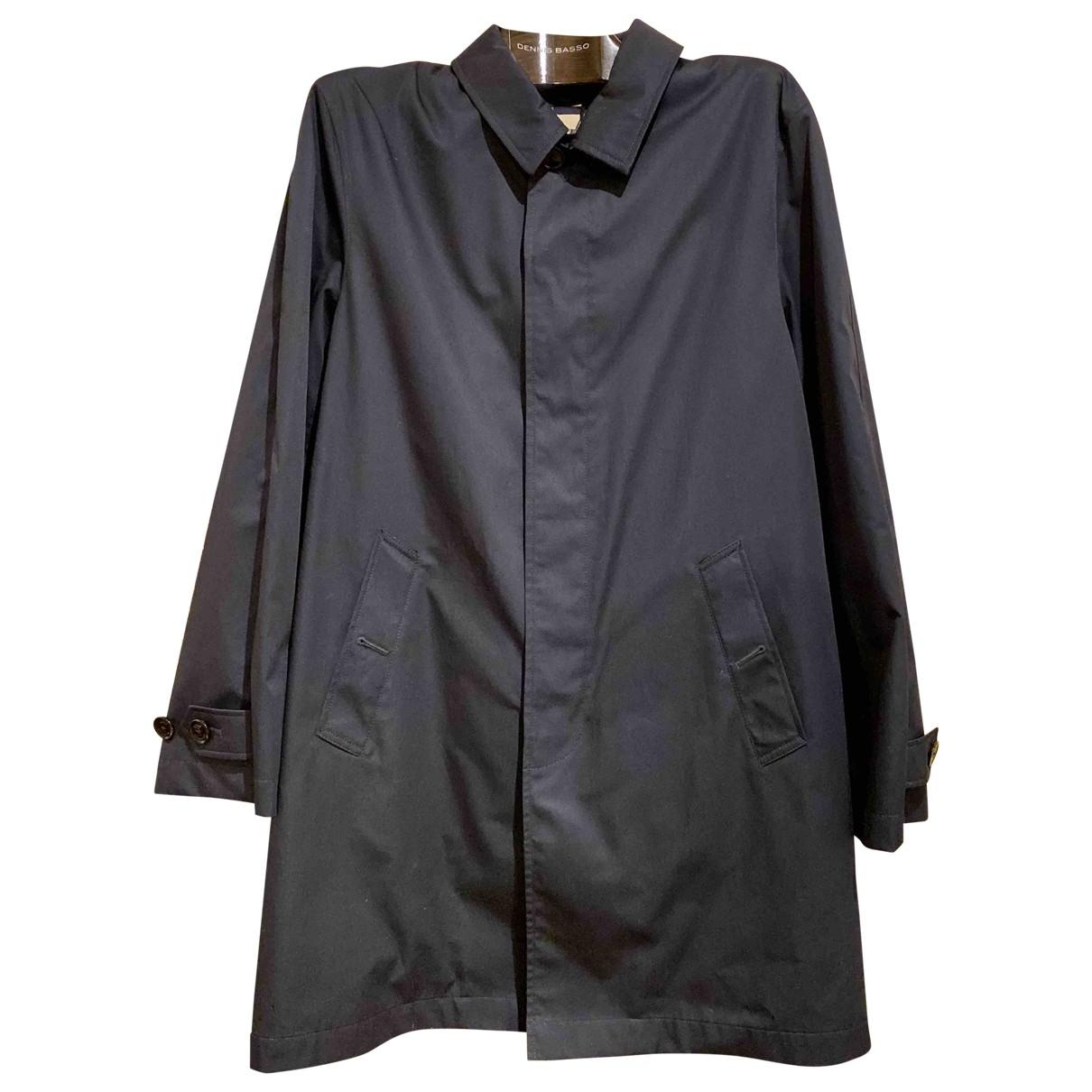 Burberry \N Navy Cotton coat  for Men L