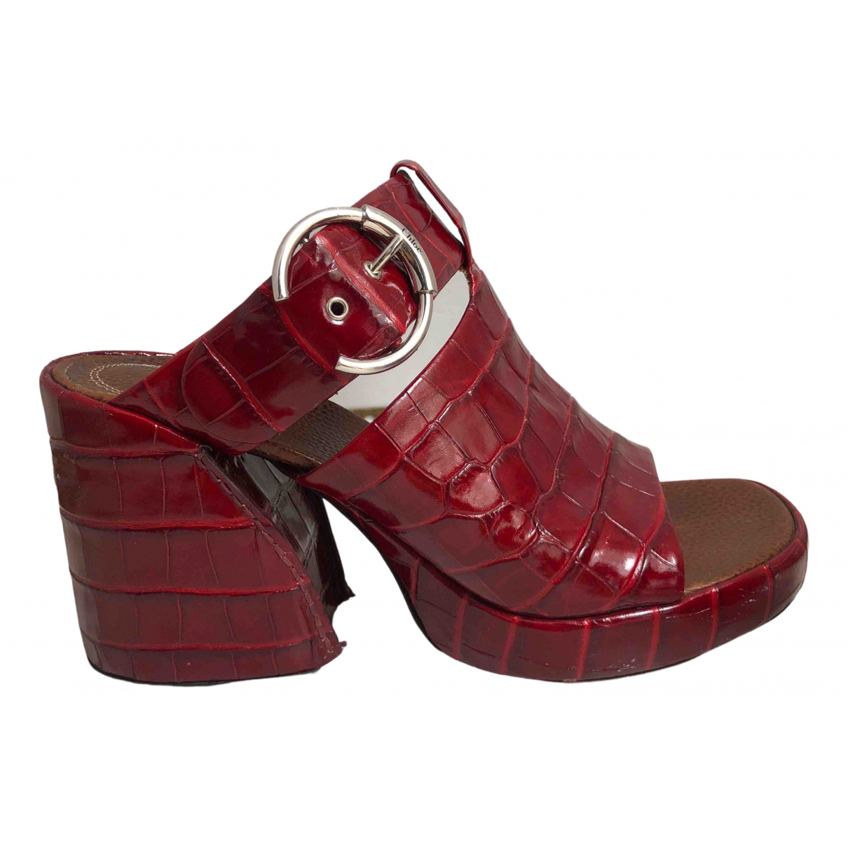Chloé \N Red Leather Sandals for Women 41 EU