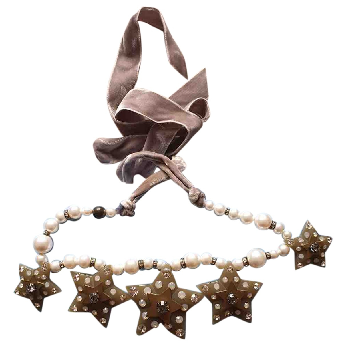 Lanvin \N Grey Pearls necklace for Women \N