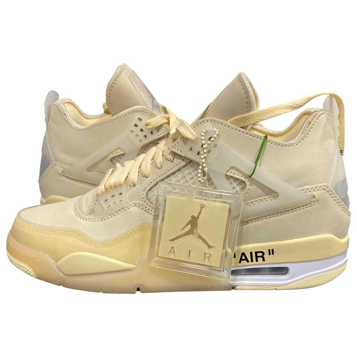 Nike X Off-white - Baskets Air Jordan 4 pour homme en toile - beige