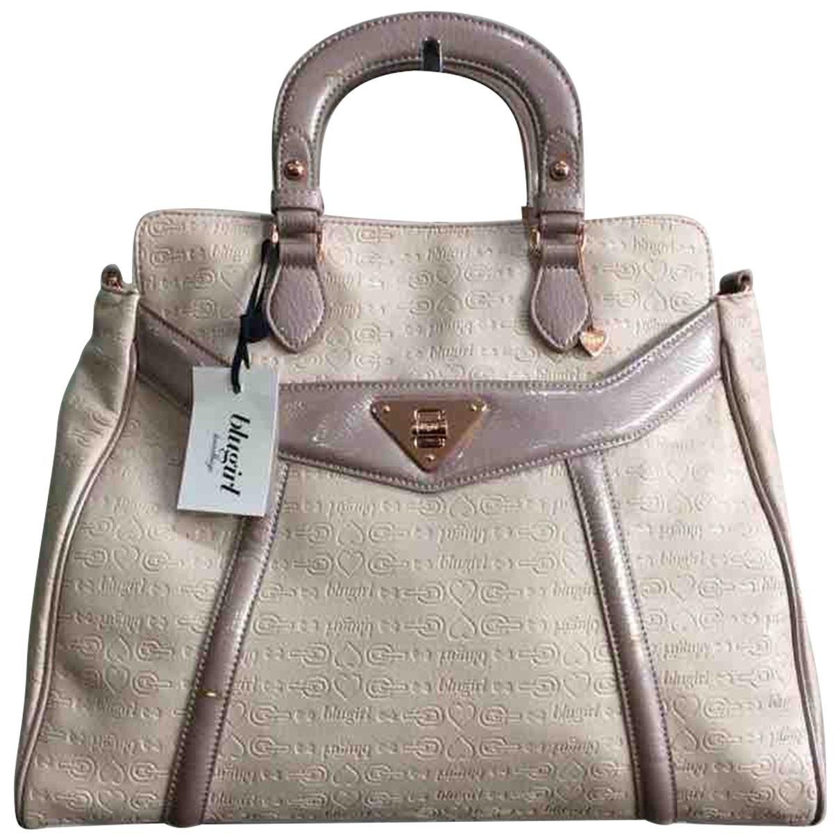 Blumarine \N Handtasche in  Ecru Lackleder
