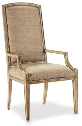 Sanctuary Collection 3002-75420 24 Mirage Arm Chair with Nail Head Accents  Tapered Legs and Fabric Upholstery in