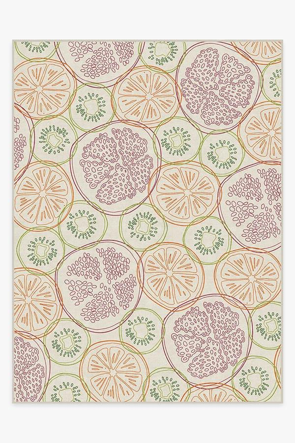 Washable Rug Cover | Fruit Punch Multicolor Rug | Stain-Resistant | Ruggable | 9'x12'