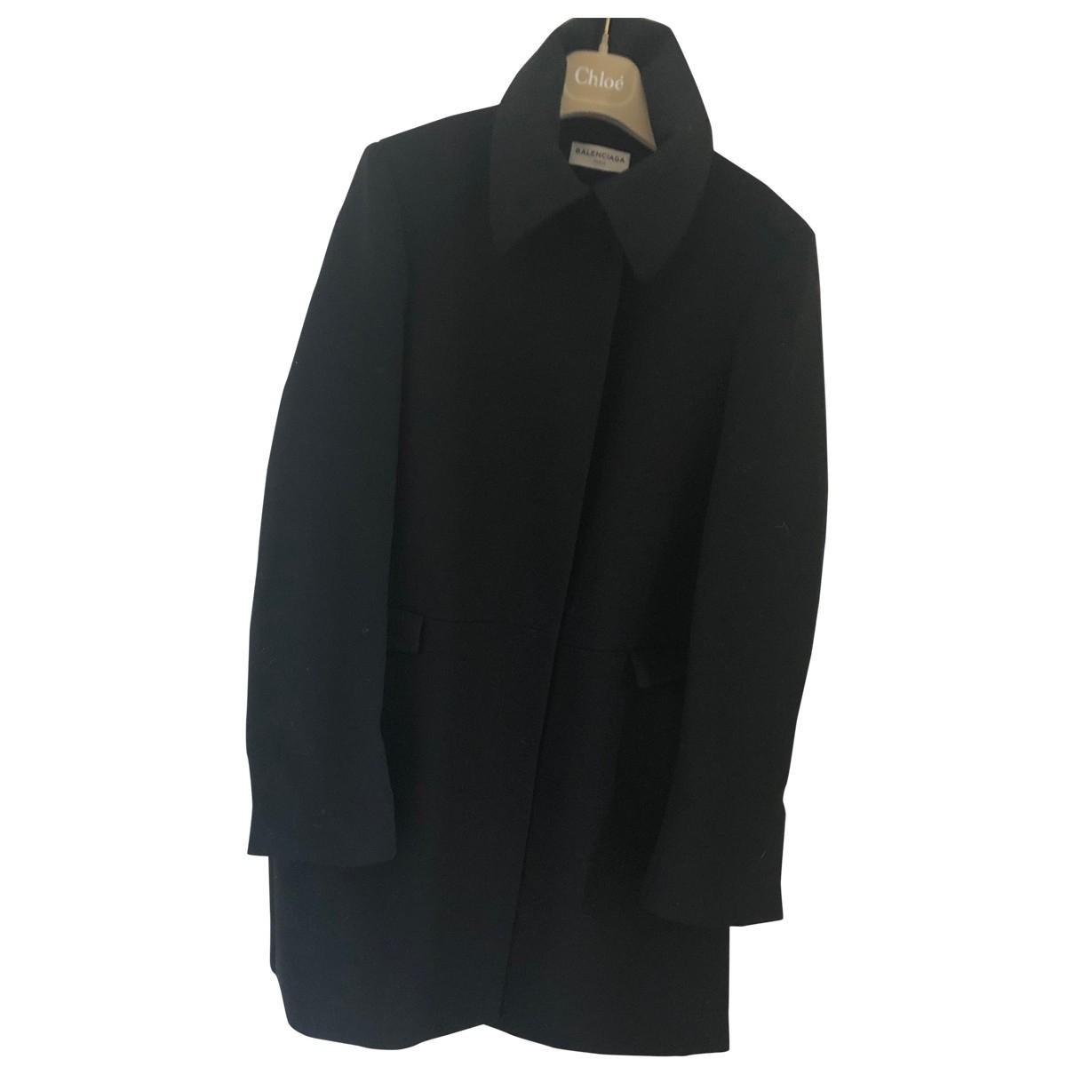 Balenciaga \N Maentel in  Schwarz Wolle