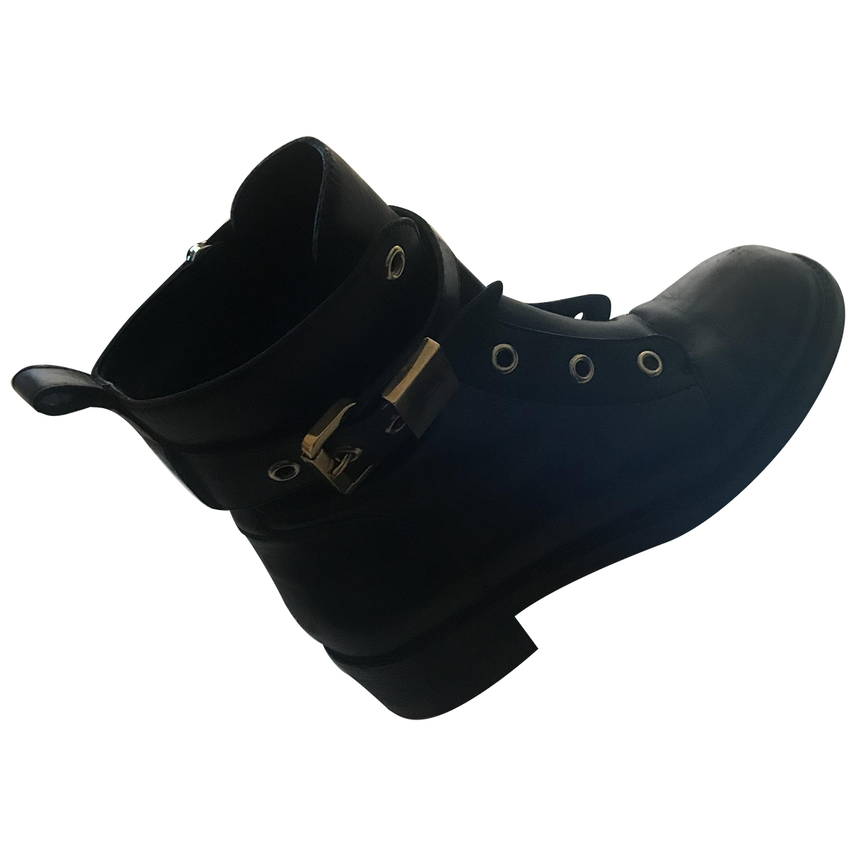 Giuseppe Zanotti \N Black Leather Ankle boots for Women 39 EU