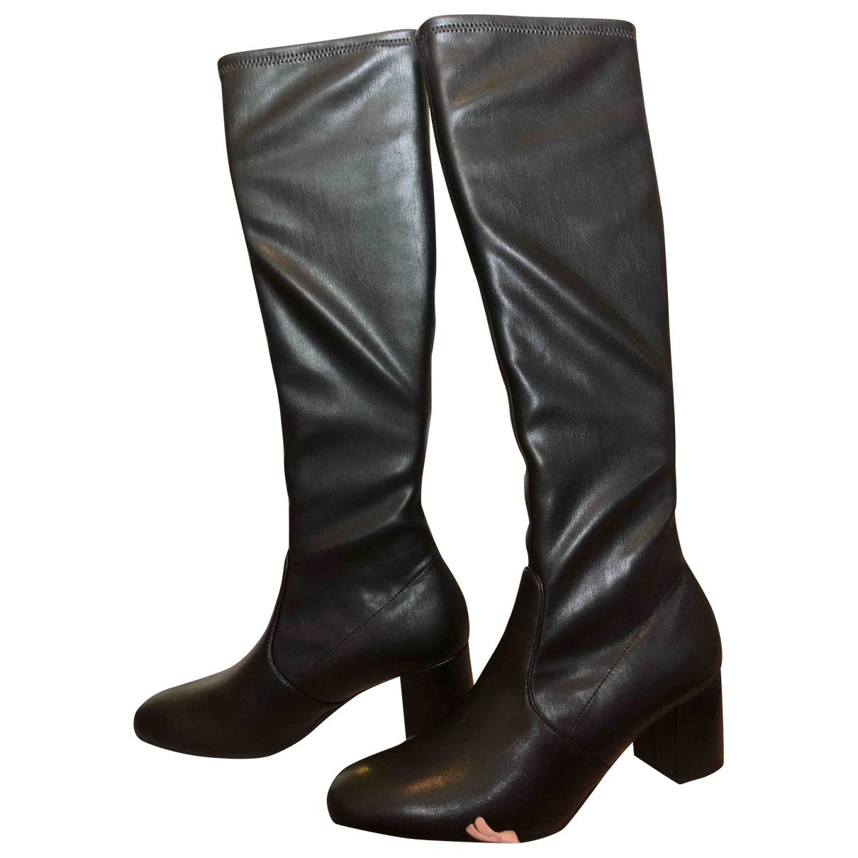 Stuart Weitzman \N Black Leather Boots for Women 36 EU