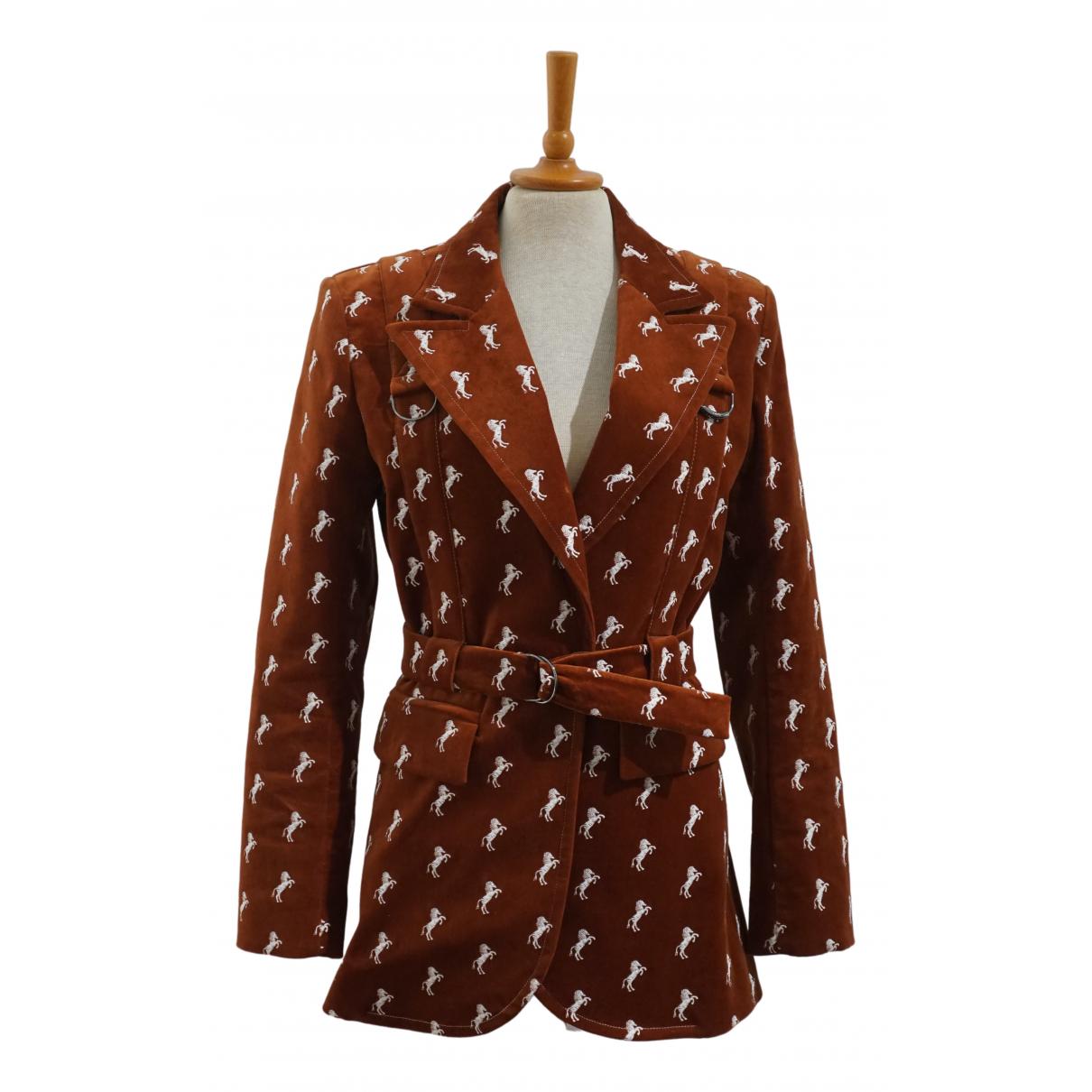 Chloé N Brown Cotton jacket for Women 38 FR
