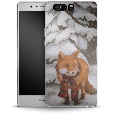 Huawei P9 Silikon Handyhuelle - Winter Fox von Terry Fan