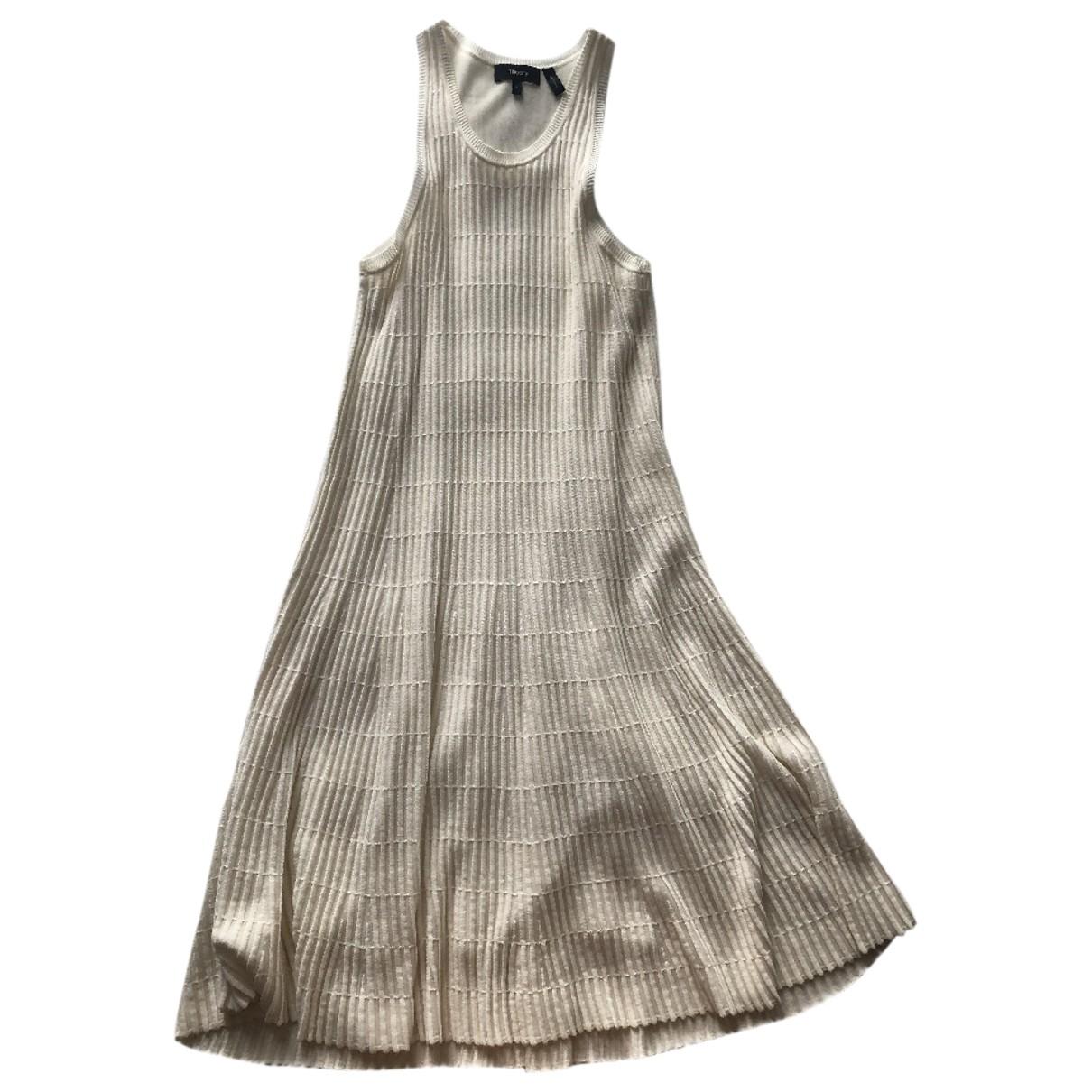 Theory \N Kleid in  Weiss Baumwolle