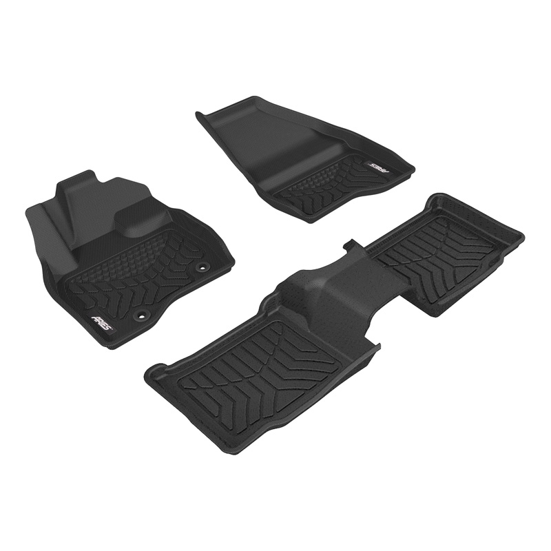 Aries 2802609 Thermoplastic Rubber Black Rubber StyleGuard XD Floor Liners