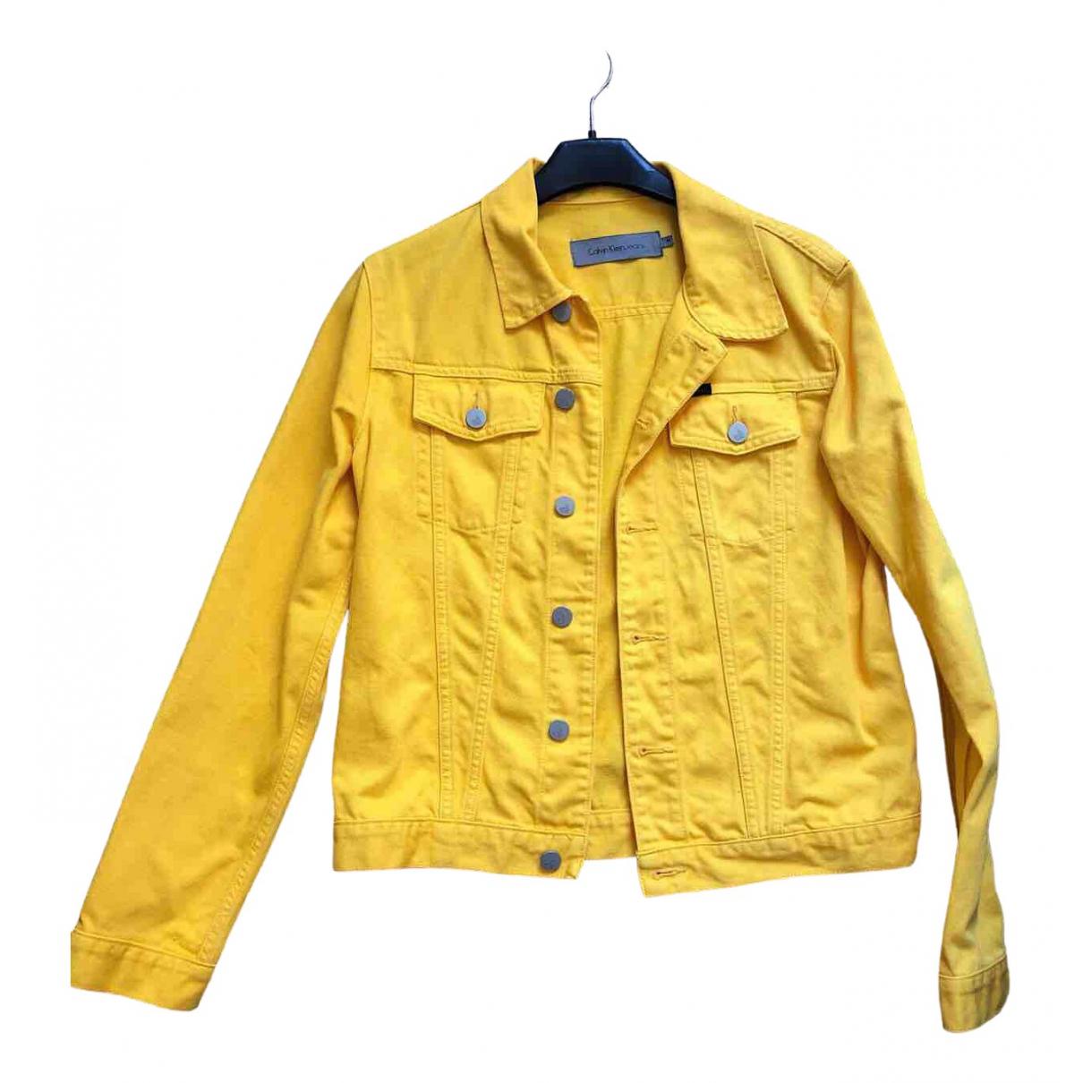Calvin Klein - Veste   pour femme en coton - jaune