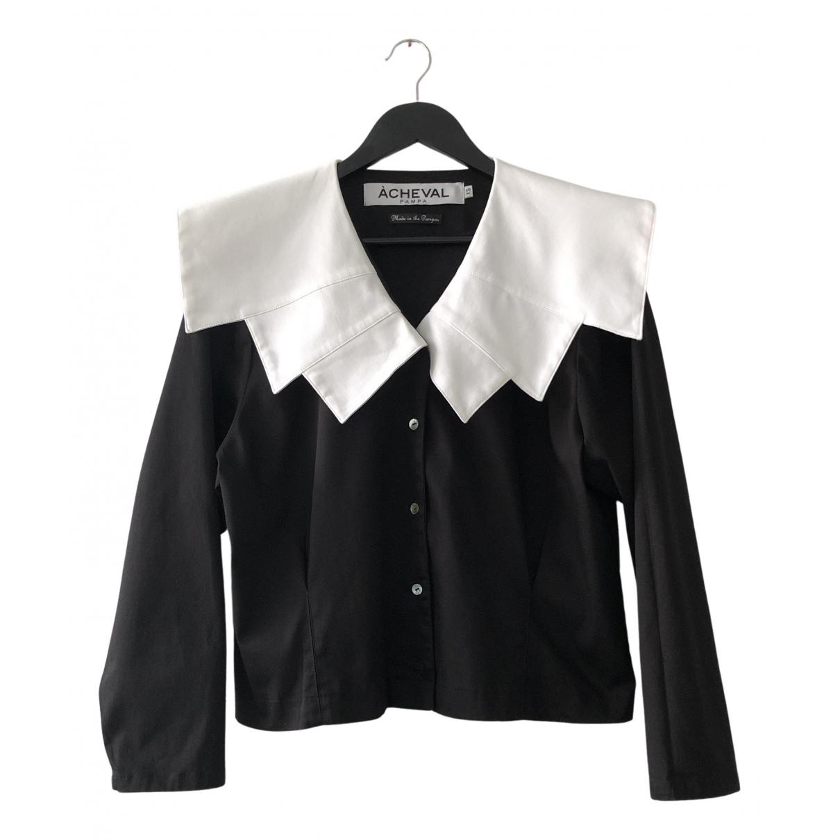 Acheval Pampa - Top   pour femme en coton - noir